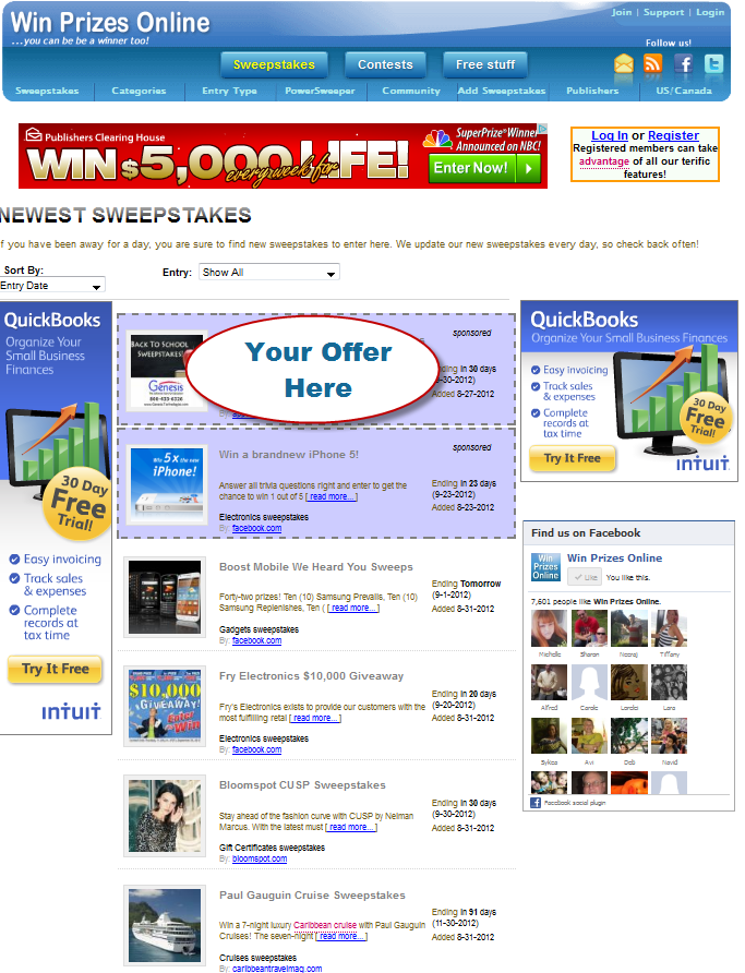 newsletter ads - click to see the full version