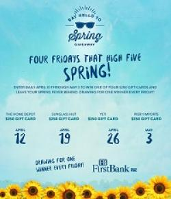 Say Hello to Spring Sweepstakes