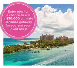 HGTV Bahamas Vacation Sweepstakes prize ilustration