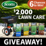 Win a $2,000 Scotts Lawn Care Sweepstakes in online sweepstakes