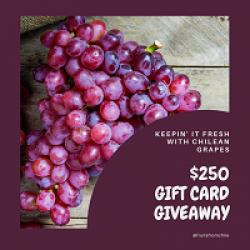 Chiliean Grapes $250 Sweepstakes prize ilustration