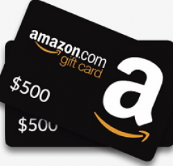 $500 Amazon Sweepstakes prize ilustration