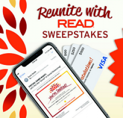 Reunite With READ Sweepstakes prize ilustration