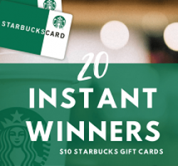 Starbucks Gift Card Instant Win Sweeps prize ilustration