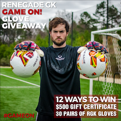 Renegade GK GAME ON! Glove Giveaway prize ilustration
