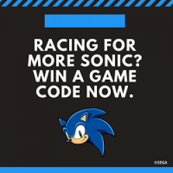 Sonic the Hedgehog Sweepstakes prize ilustration