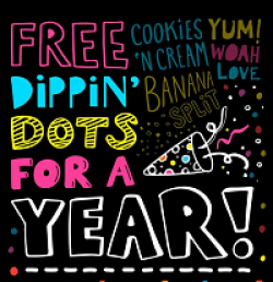 Dippin Dots Ice Cream Day Sweepstakes prize ilustration