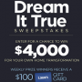 Win a HGTV Dream it True Sweepstakes in online sweepstakes