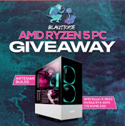 Blaustoise Gaming PC Giveaway prize ilustration