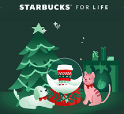 Starbucks for Life Sweepstakes prize ilustration
